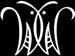 A white logotype